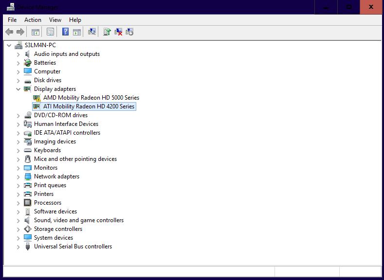 drivers ati radeon hd 4200 windows 8.1