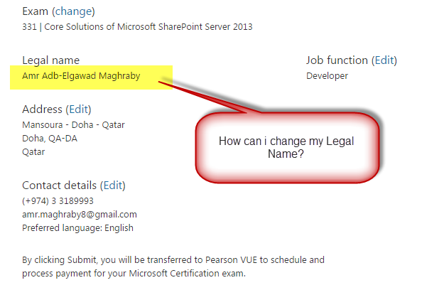 Change My Name In Microsoft Certified exam profile - Training ...