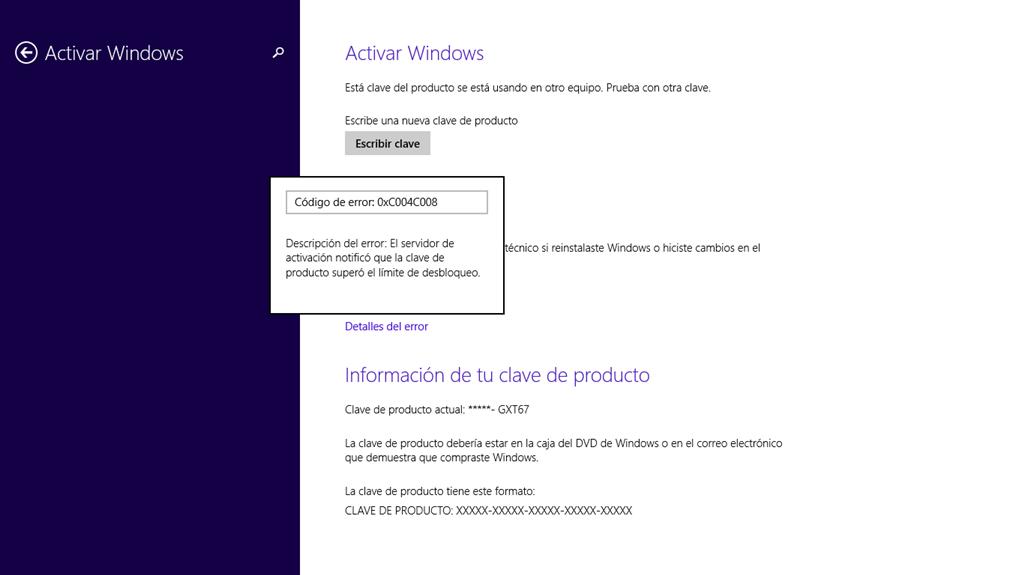 clave del producto para activar windows 8.1 pro