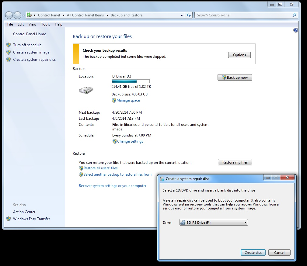 making a recovery disk