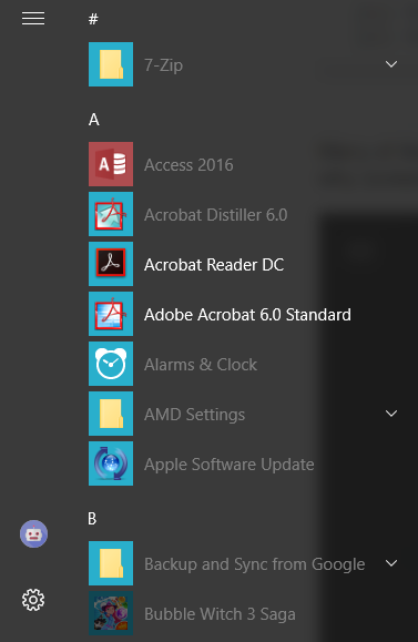 Items in Start Menu Apps List are Grayed-out - Microsoft