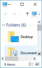 windows 10 file explorer restore down not working