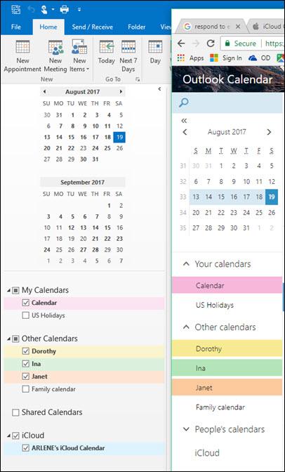 Sync iCloud Calendar to Outlook Calendar online - Microsoft