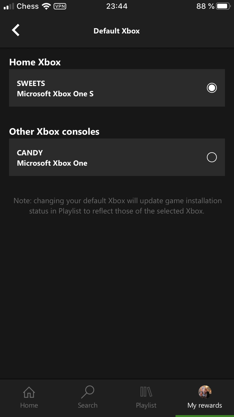 """Regarding several """"default xbox"""" options in xBox game pass app! [IMG]"""