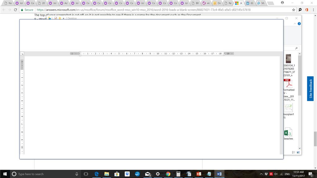 Word Loads A Blank Screen Microsoft Community - Blank word document