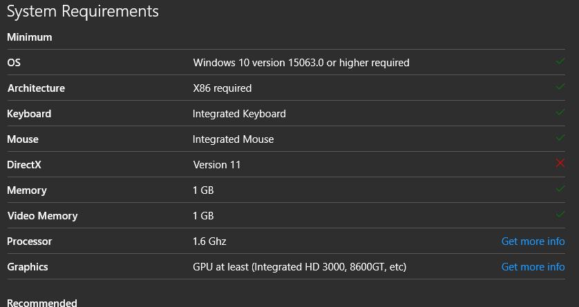 Windows Store Apps Won't Recognize DirectX 12 - Microsoft Community