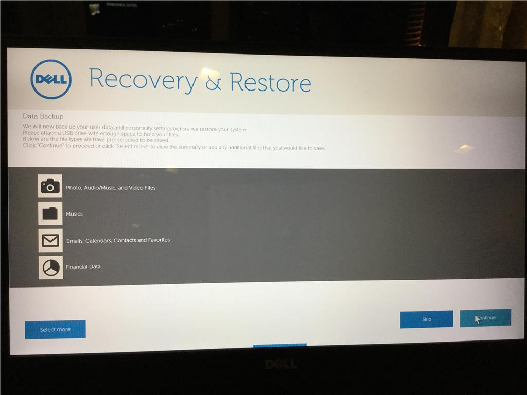 Dell windows10 laptop won't recover from recovery and restore USB