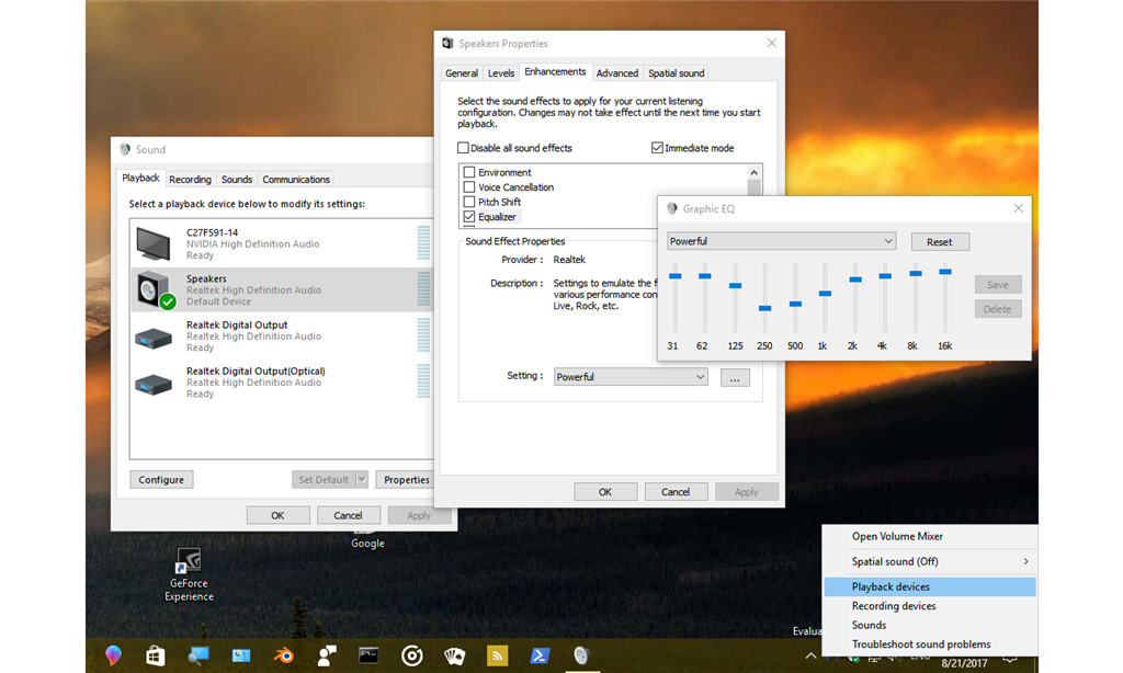 RealTek Audio Driver Volume Output - Microsoft Community