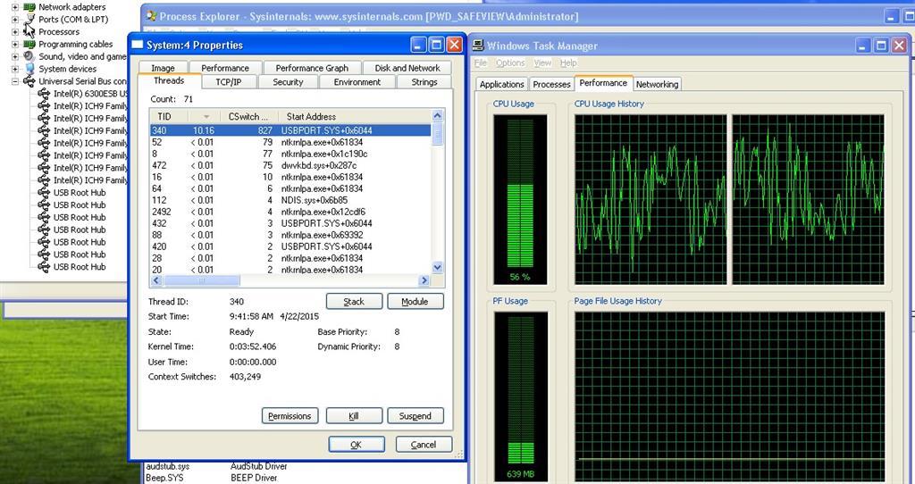 Hardware Interrupts and DPCs using 20-30% CPU? - Microsoft Community