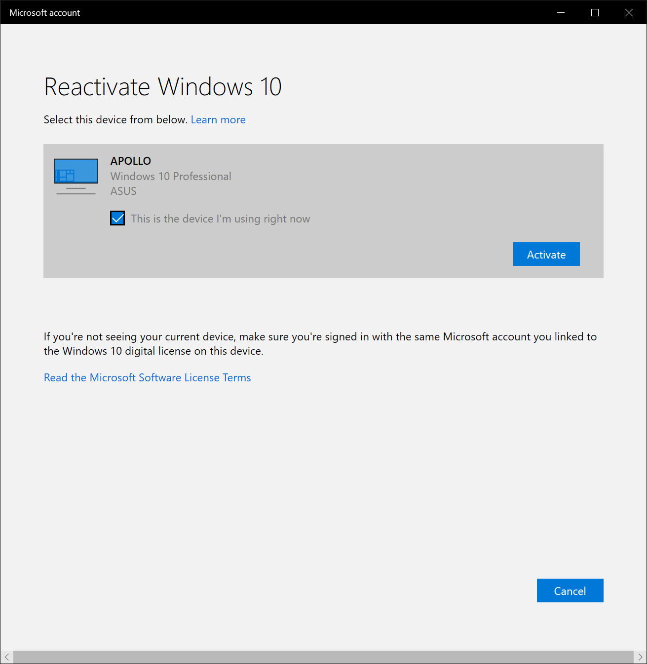 How To Reactivate Windows 10 Without A Microsoft Account How