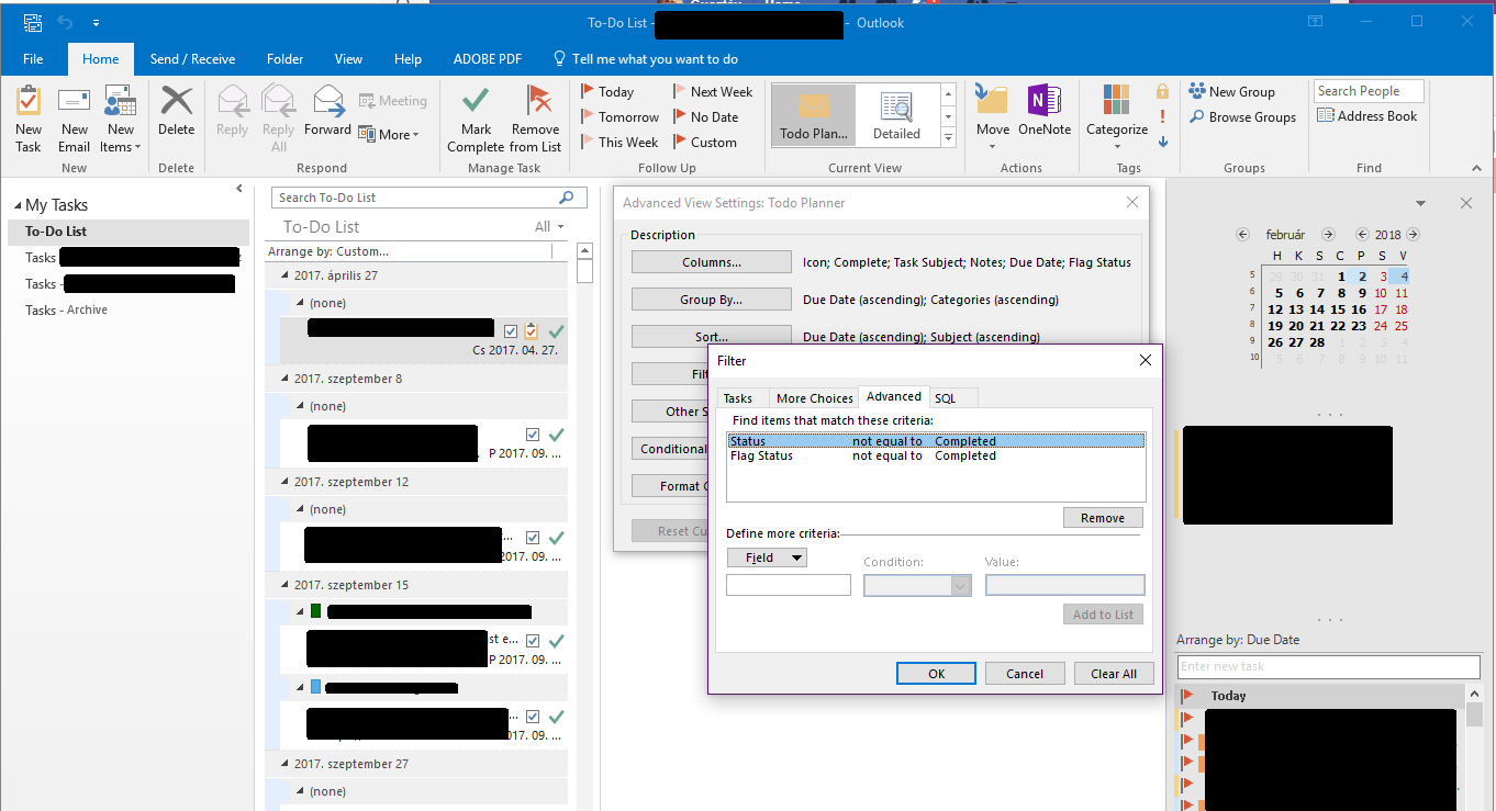 Can i make a to do list in outlook have