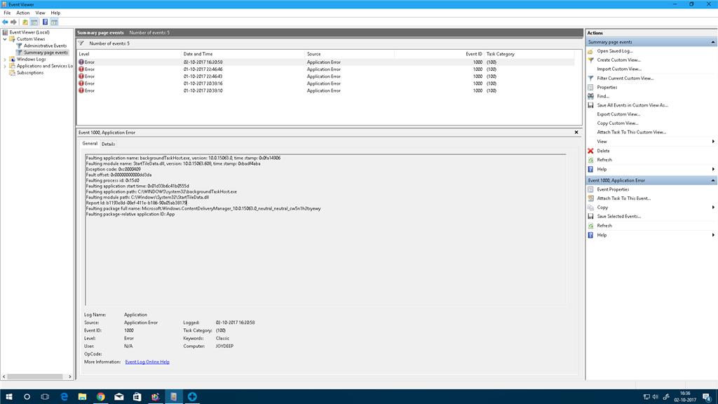 backgroundTaskHost.exe stopped working - Microsoft Community