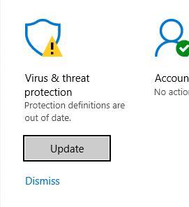 Malwarebytes uninstall, Now Windows Defender Protection