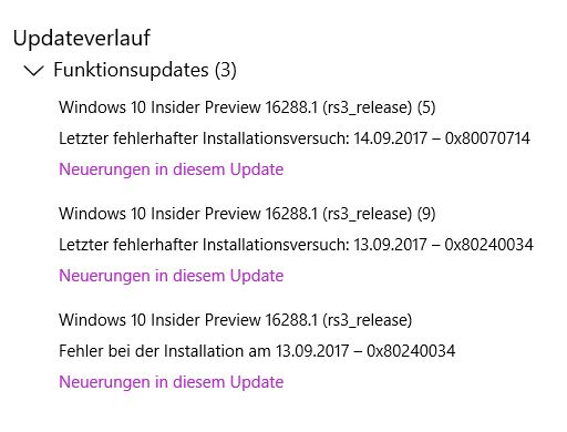 Update insider program von rel. 16281