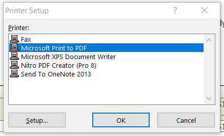 Excel Export to PDF: Errors after Win 10 Update - Microsoft Community