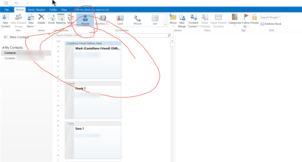 how to create a business card in outlook 2016