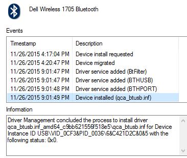 Dell Inspiron 3537 - Windows 10 pro Bluetooth Problems - Microsoft