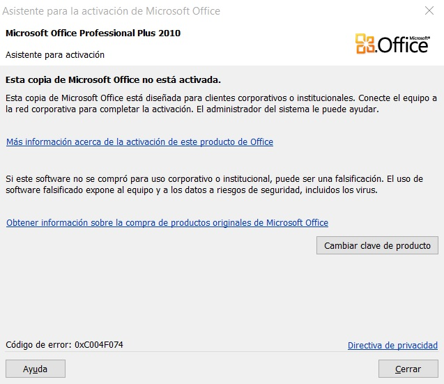 clave para microsoft office 2010 professional plus