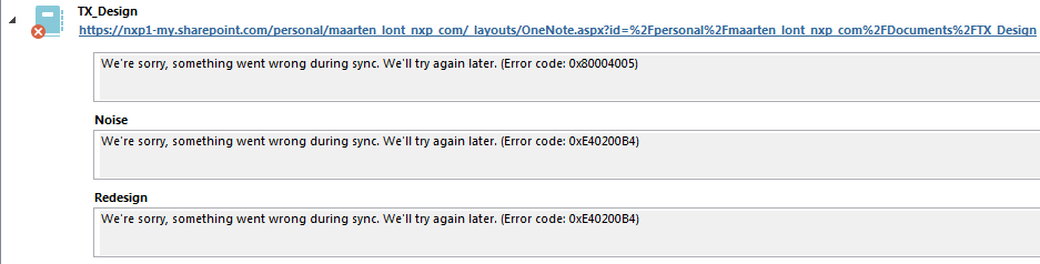Cannot sync onenote notebook - Microsoft Community