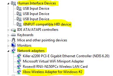 windows 10 xinput