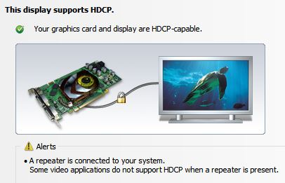 Windows 8 - Media Center DisplayPort HDCP support nonexistent