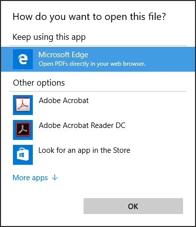 How do you want to open this file? dialog box keeps apearing