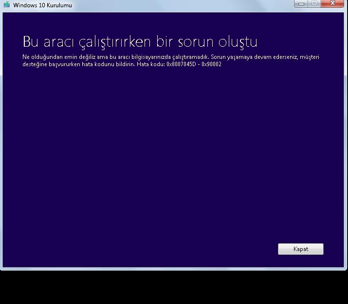 Error Code 0x8007045d Windows 10 Install