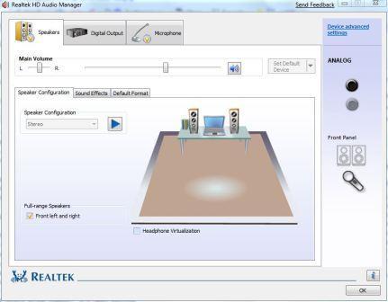gestionnaire audio hd realtek vista
