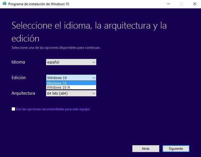 descargar windows 10 iso desde microsoft