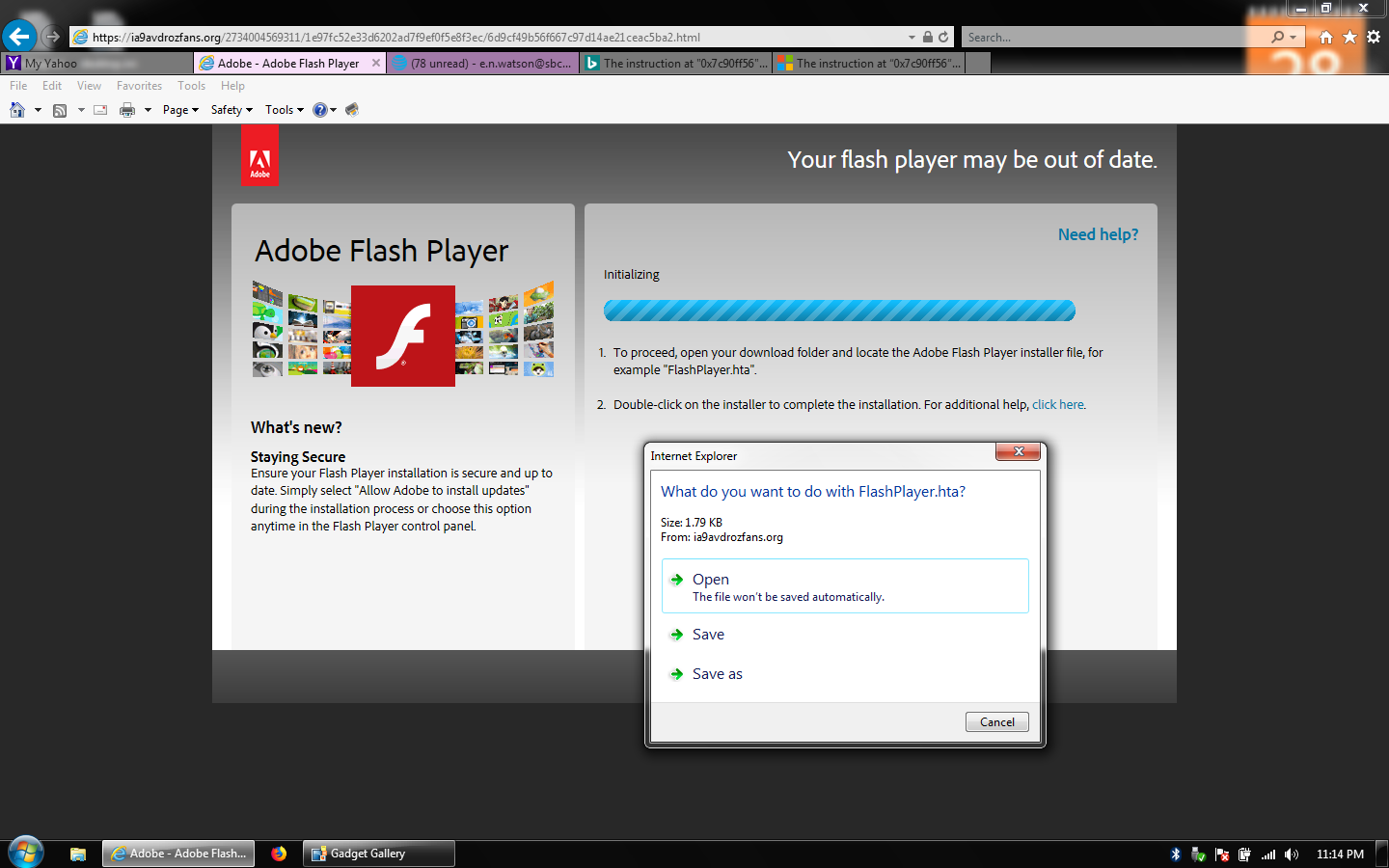 how do i download adobe flash player on my computer