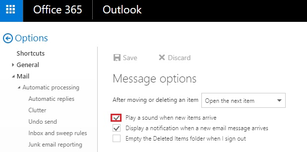 No sound Notification in Outlook 365 - Microsoft Community