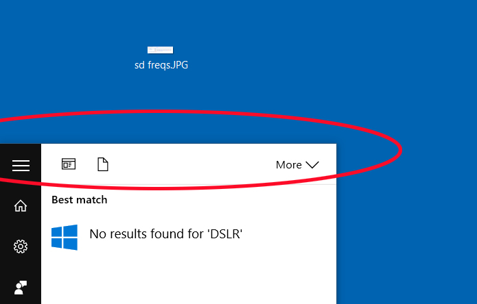 search function in windows 10