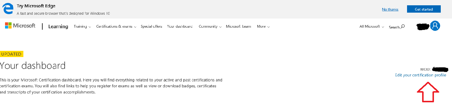 My Mcid Not Showing On My Profile Training Certification And