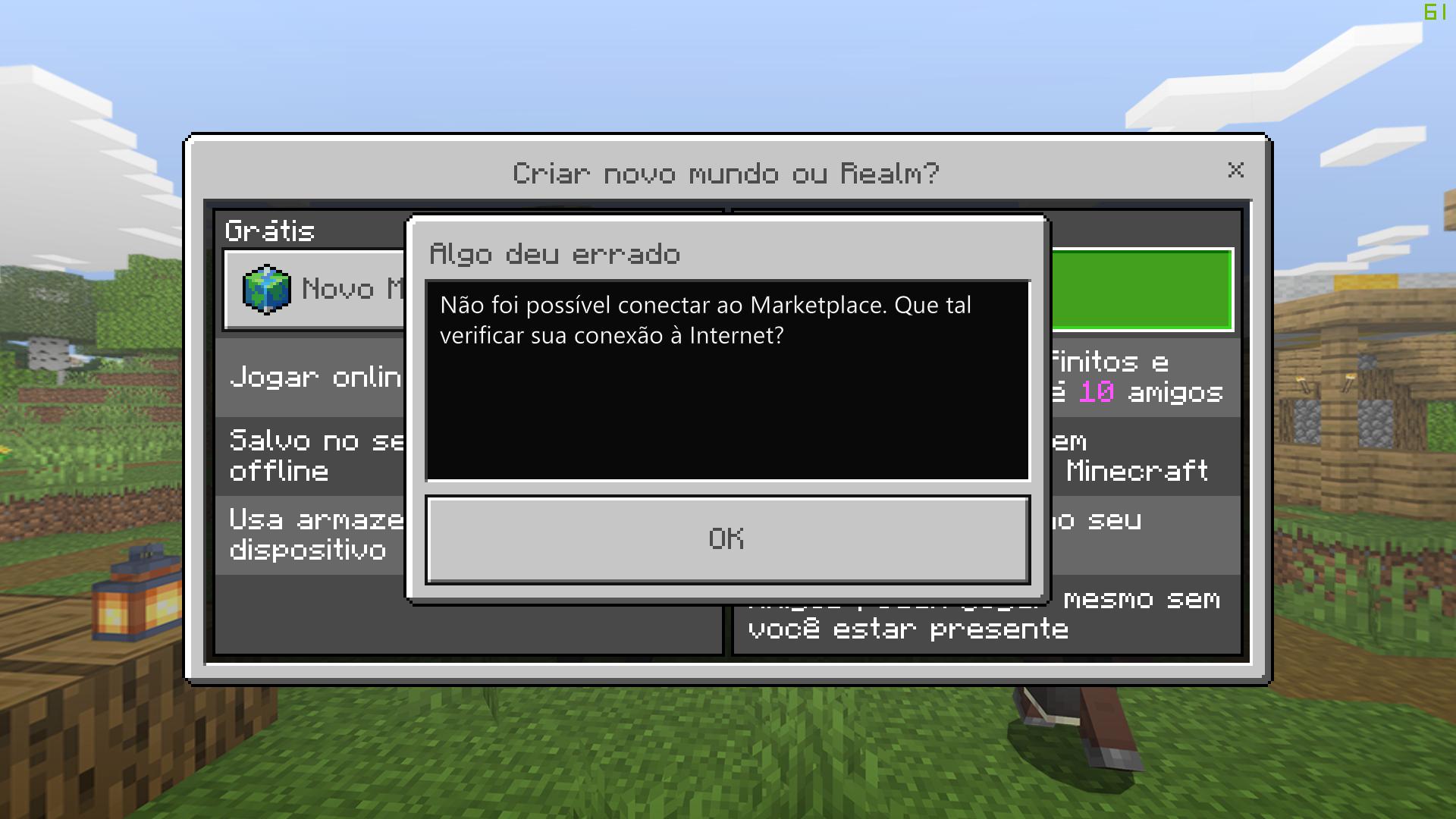 Não consigo criar um Realm no Minecraft Win 11 - Microsoft Community