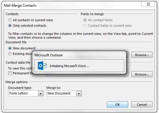 Outlook Mail Merge Freezes - Microsoft Community