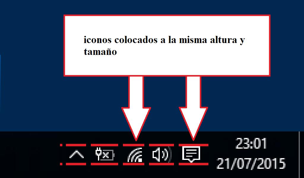 Hacer Los Iconos De La Barra De Tareas Del Escritorio Del