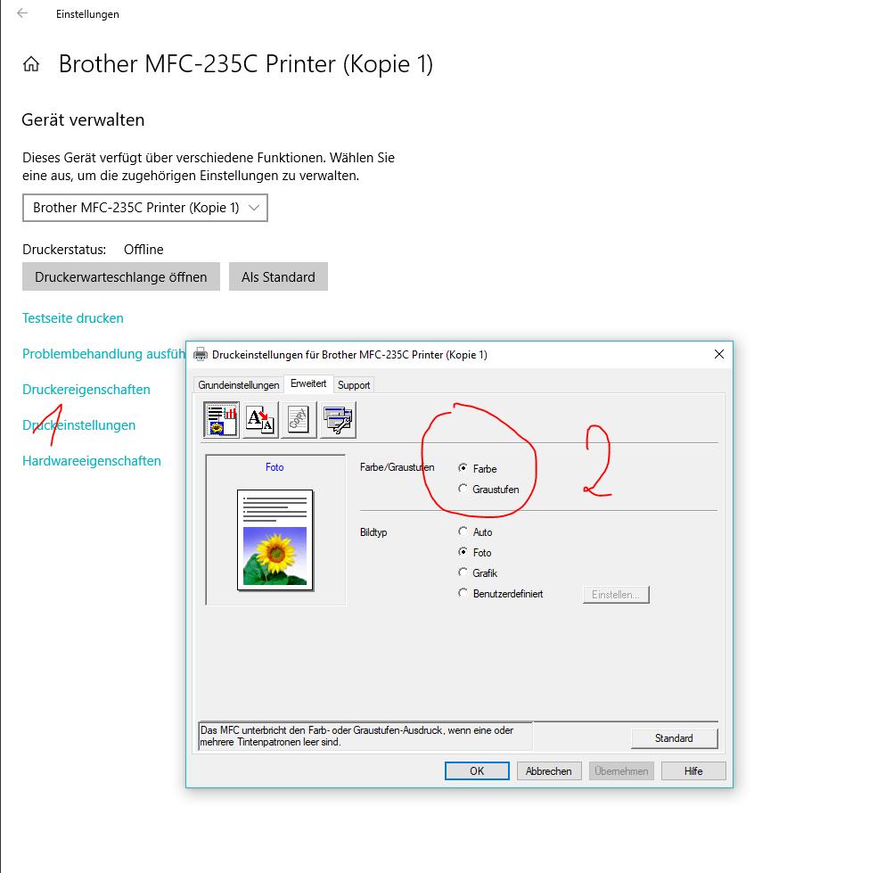 Kein Farbdruck mit Windows 10 ! - Microsoft Community