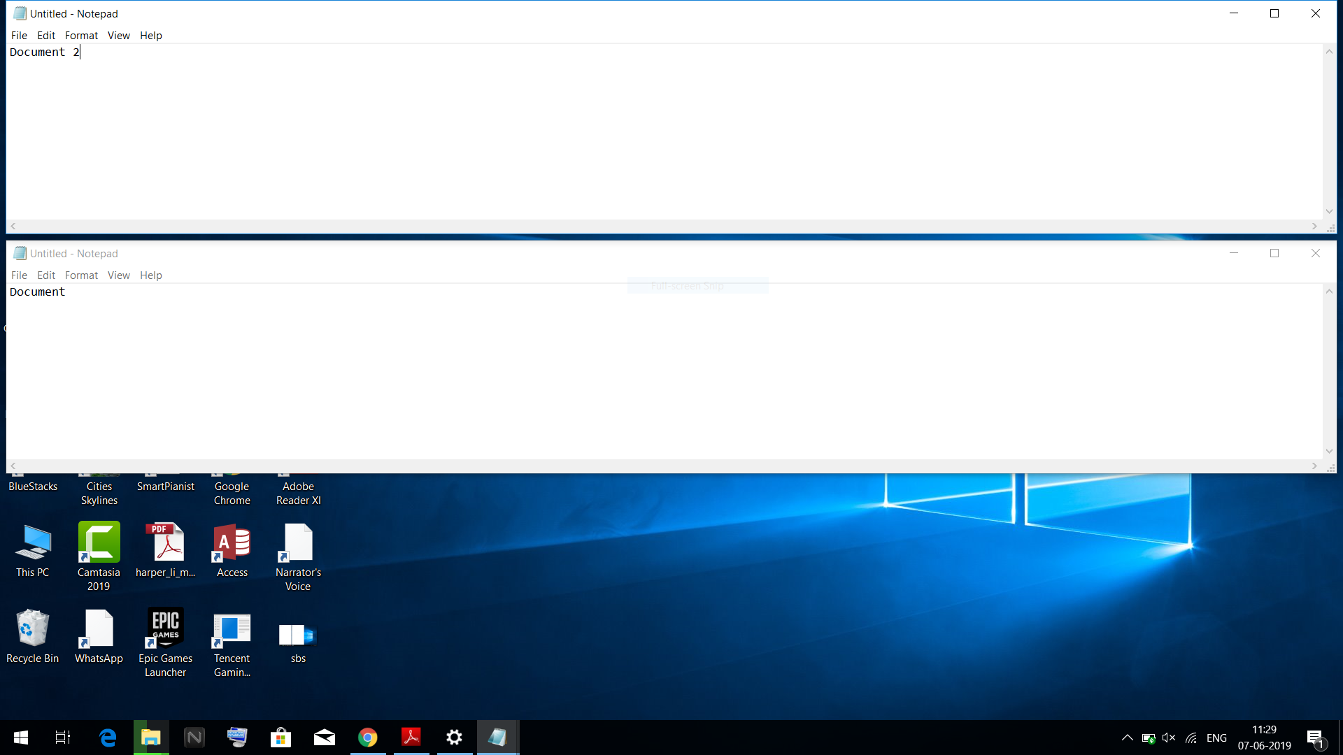 Desktop occupies space in side by side and stacked mode - Microsoft