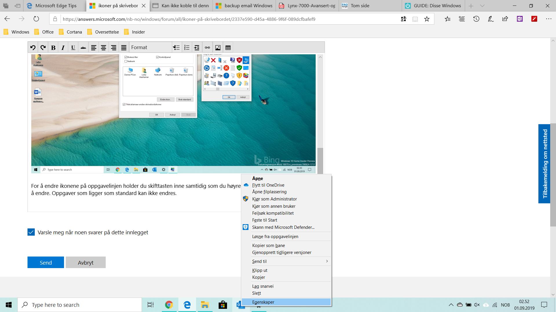 Hjelp!! Skrivebordsbakgrunnen Microsoft Community