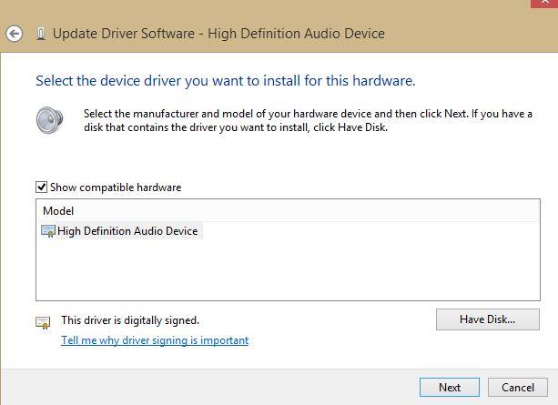 microsoft update audio drivers