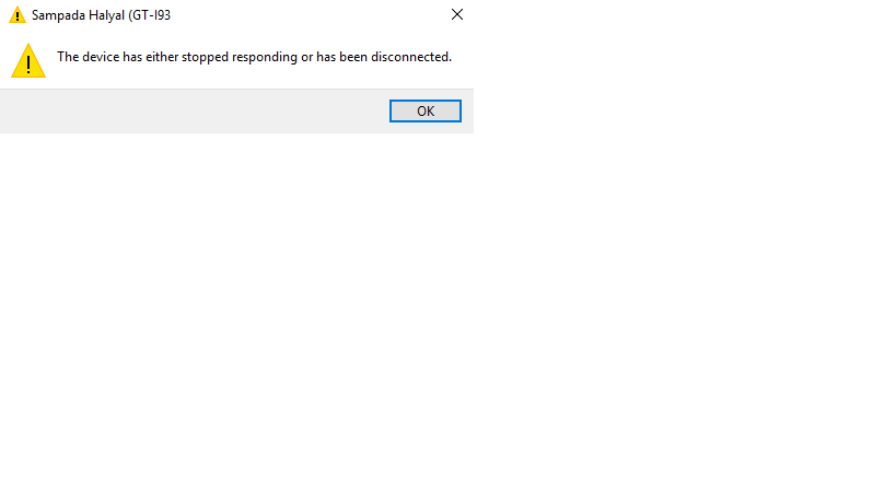 The Device has either stopped or disconnected - Microsoft Community