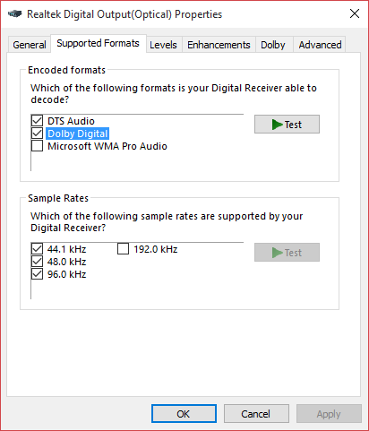 5 1 Channel Surround Sound not working in Windows 10  - Microsoft