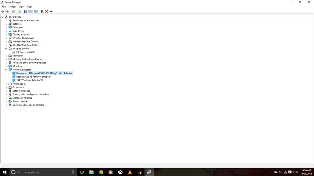 Qualcomm Atheros AR9485 Windows 10 Not Sure If Bluetooth is Running