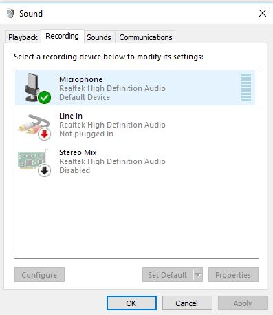 External Microphone not working after Windows 10 Update - Microsoft