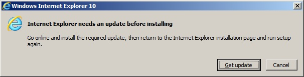 Unable to install Internet Explorer 10 on Dell Inspiron 14R
