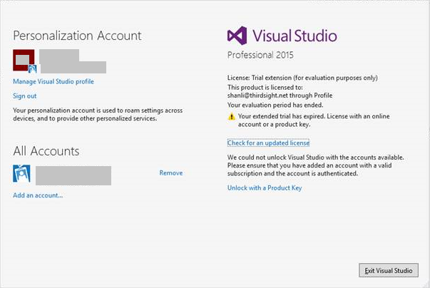 Image result for Microsoft Visual Studio 2015 Professional