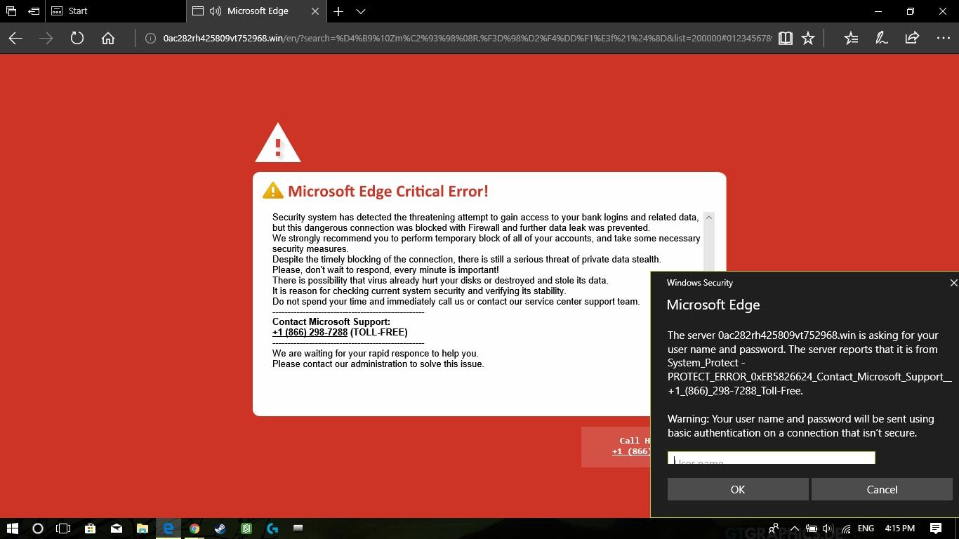 Microsoft Edge Critical Error  - Microsoft Community
