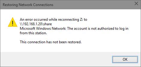 Samba Netzwerk Freigabe nicht mehr nutzbar