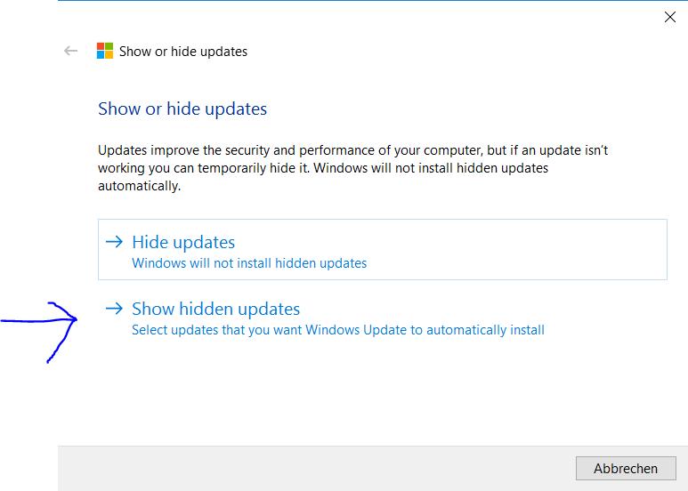 Windows Update Probleme beheben - Microsoft Community