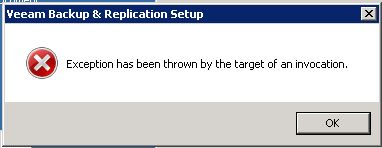 I am getting issue installing Veeam Back and Replication